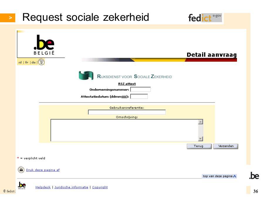 Request sociale zekerheid