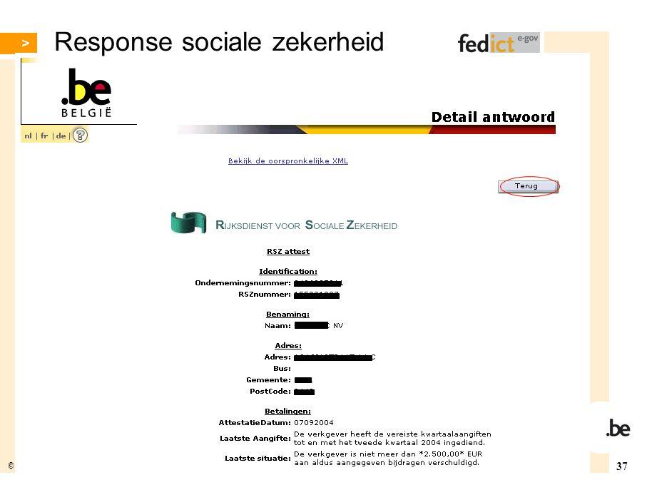 Response sociale zekerheid