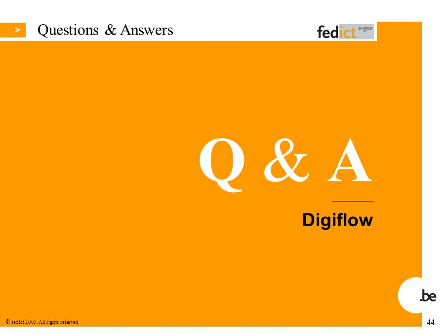 Questions & Answers Digiflow