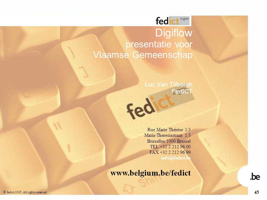 Digiflow presentatie voor Vlaamse Gemeenschap Luc Van Tilborgh FedICT