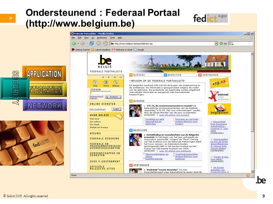 Ondersteunend : Federaal Portaal (http://www.belgium.be)