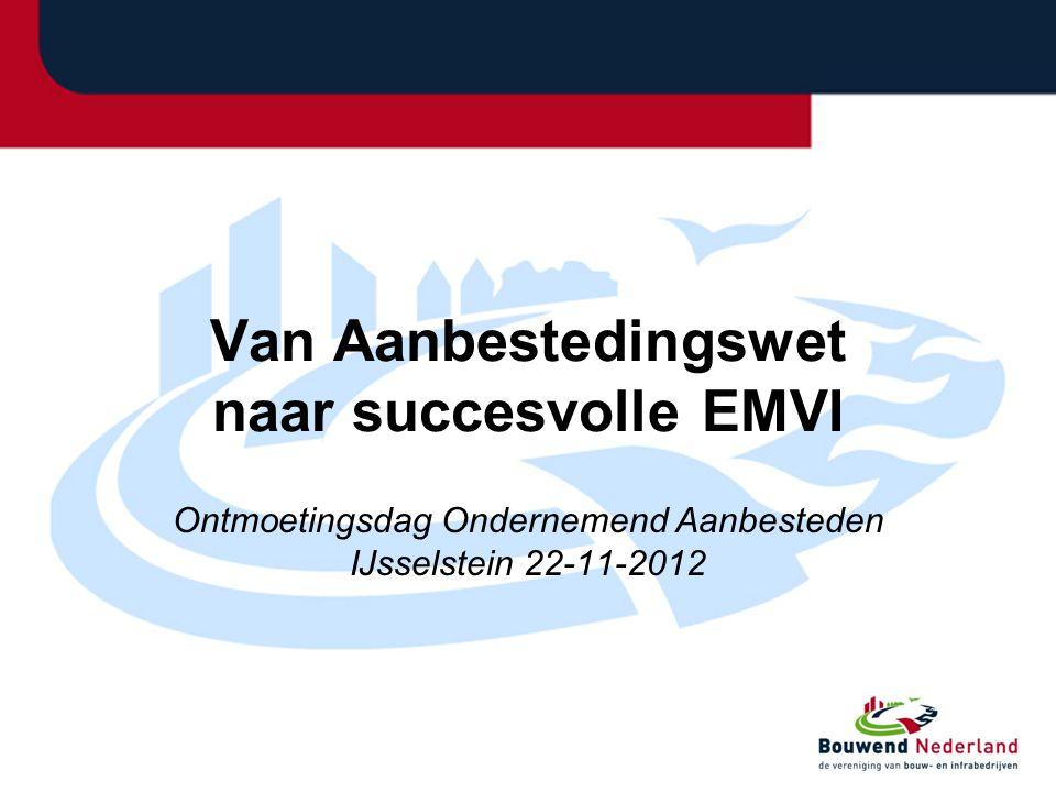 Van Aanbestedingswet naar succesvolle EMVI