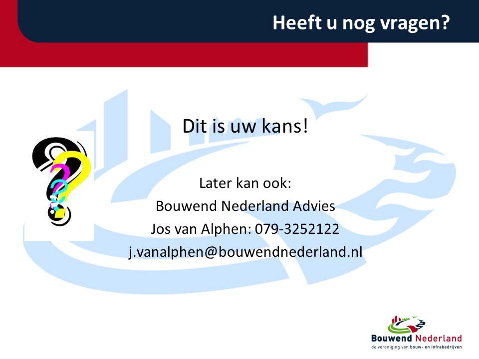 Bouwend Nederland Advies