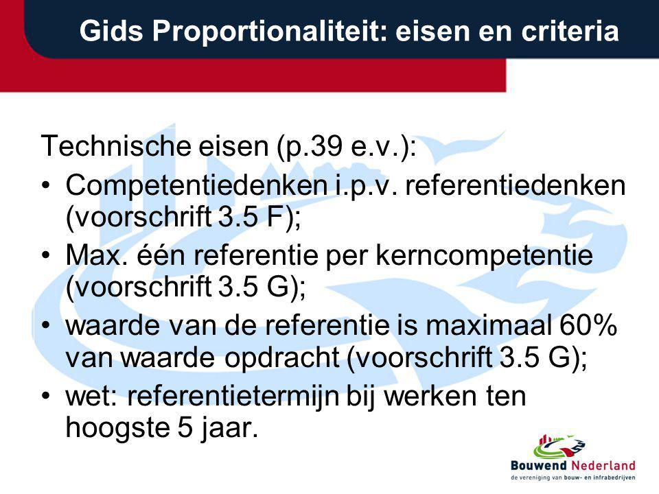 Gids Proportionaliteit: eisen en criteria