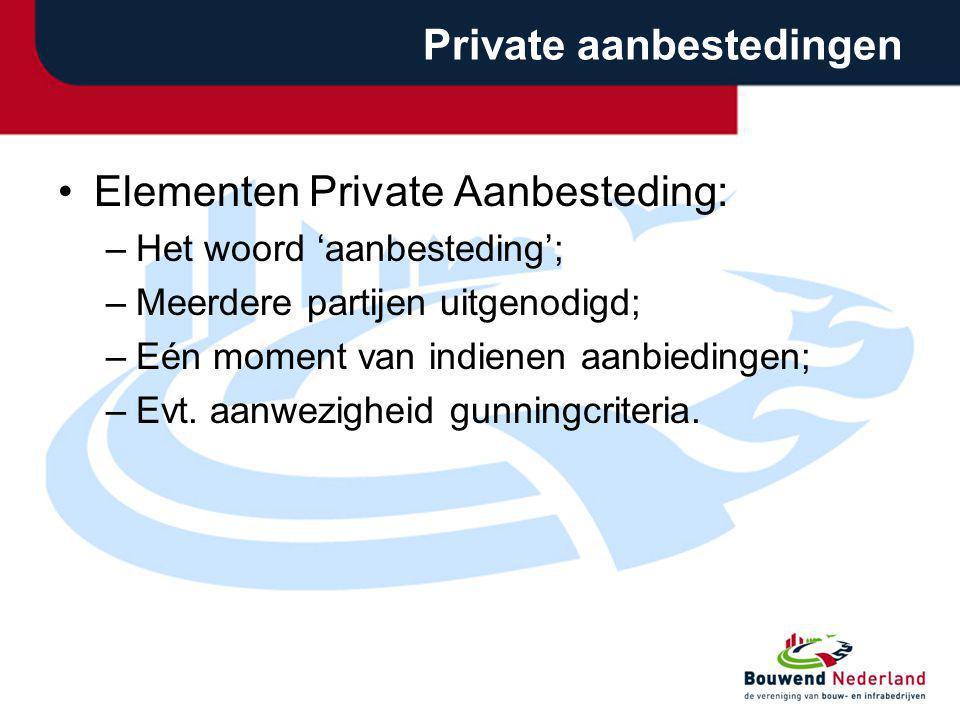 Private aanbestedingen
