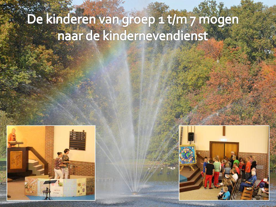 De kinderen van groep 1 t/m 7 mogen naar de kindernevendienst