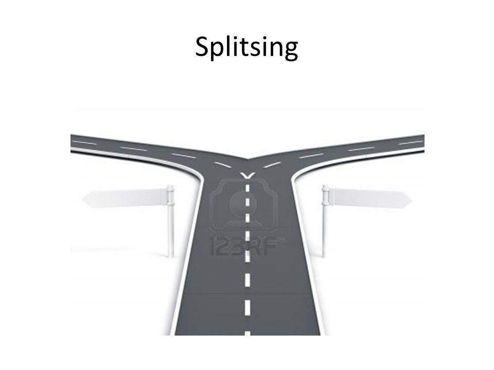 Splitsing