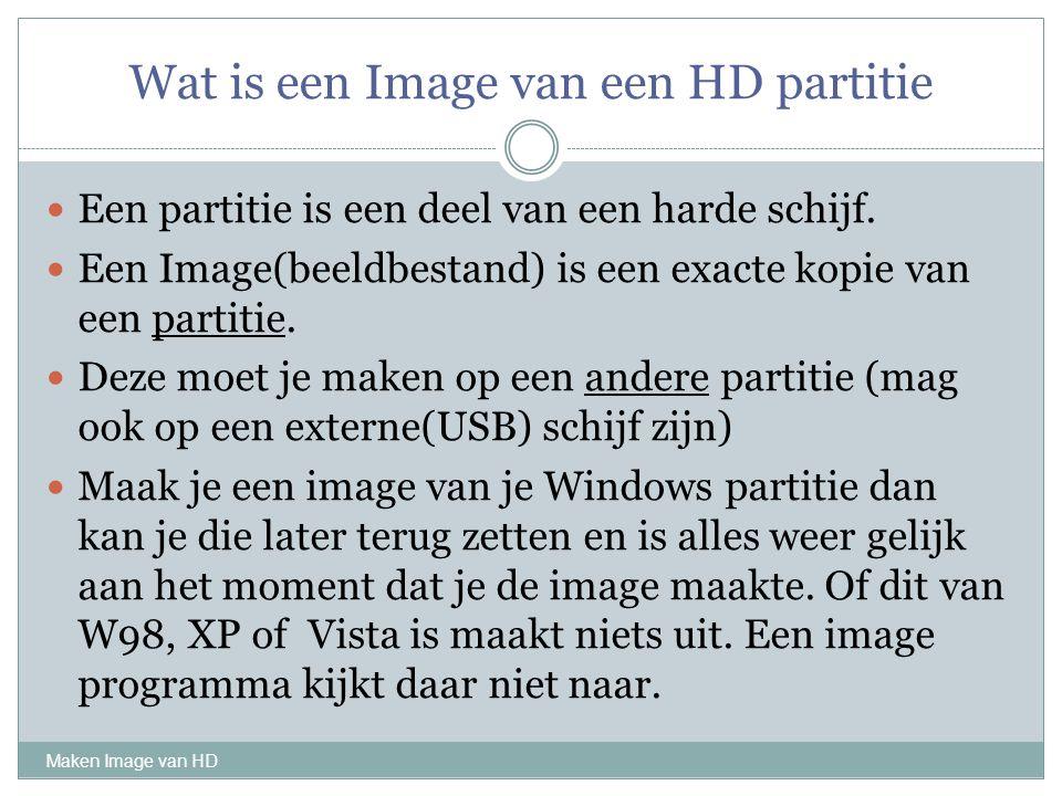Wat is een Image van een HD partitie