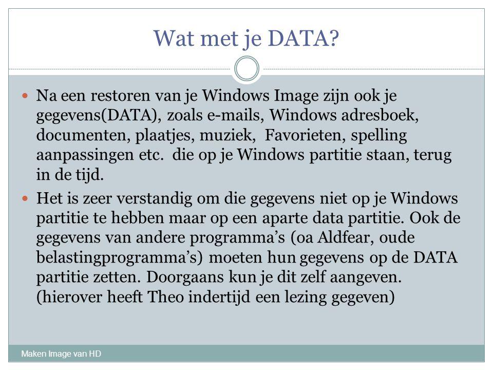 Wat met je DATA