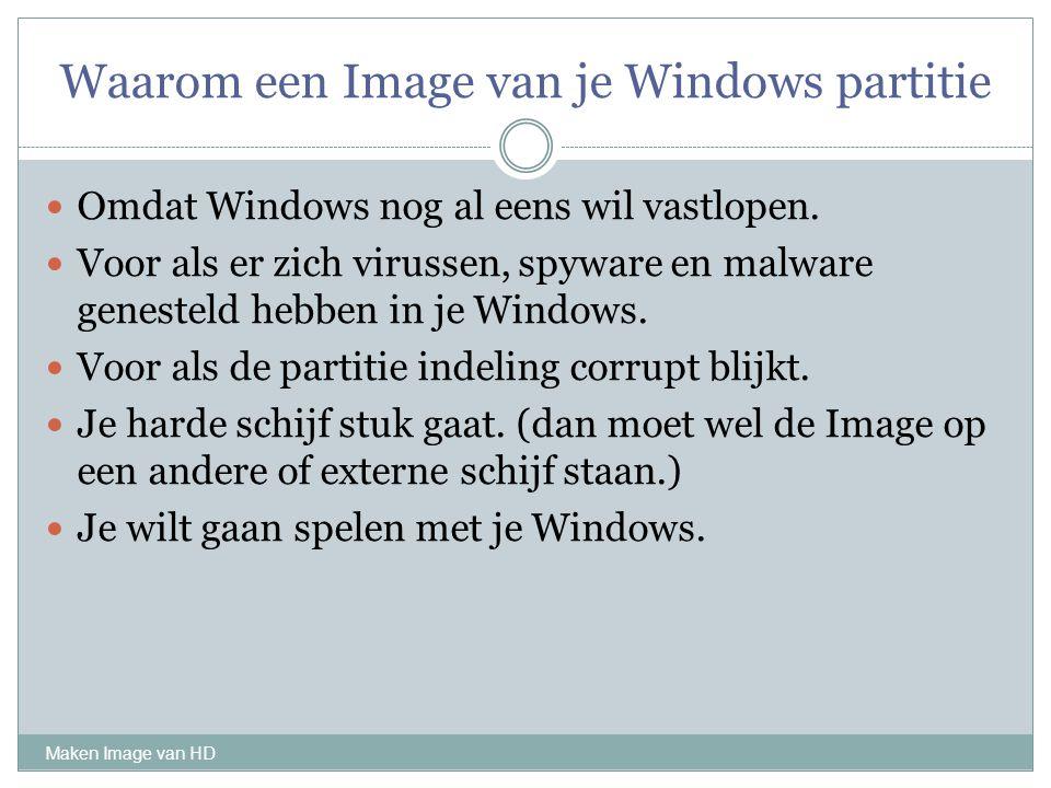Waarom een Image van je Windows partitie