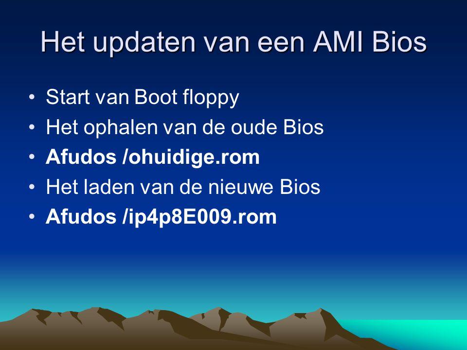 Het updaten van een AMI Bios