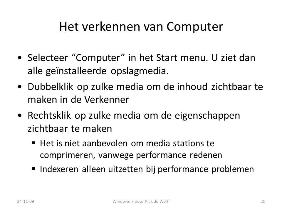 Het verkennen van Computer
