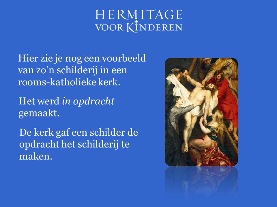Hier zie je nog een voorbeeld van zo'n schilderij in een rooms-katholieke kerk.
