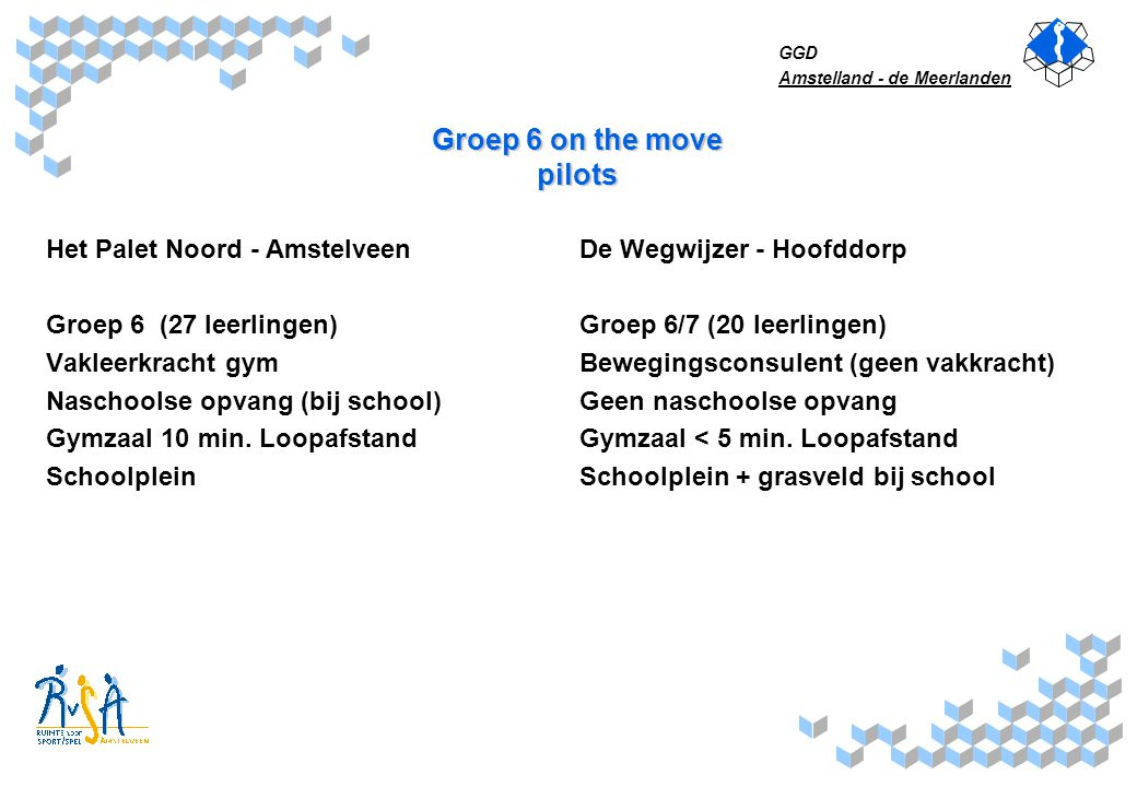 Groep 6 on the move pilots