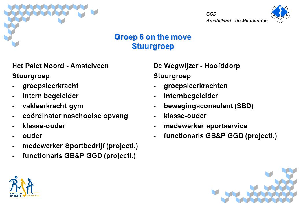 Groep 6 on the move Stuurgroep