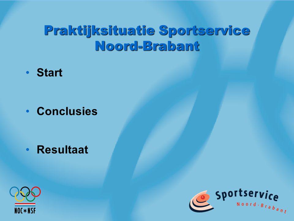 Praktijksituatie Sportservice Noord-Brabant