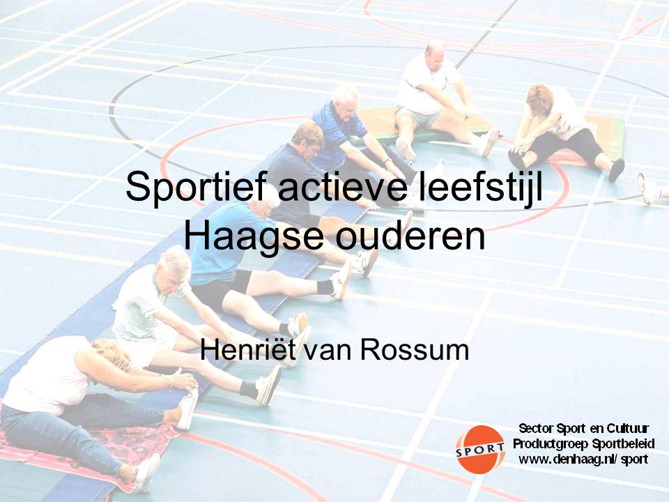 Sportief actieve leefstijl Haagse ouderen