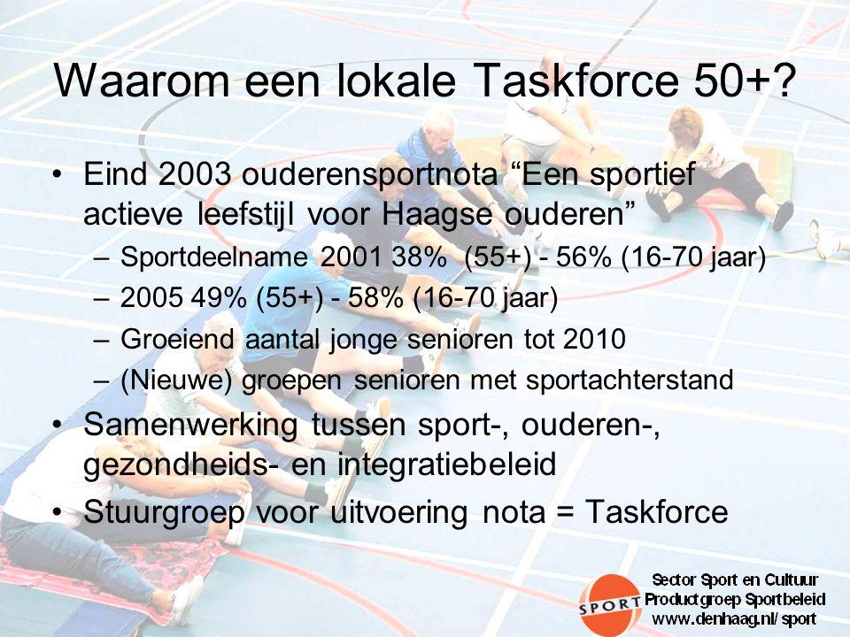 Waarom een lokale Taskforce 50+