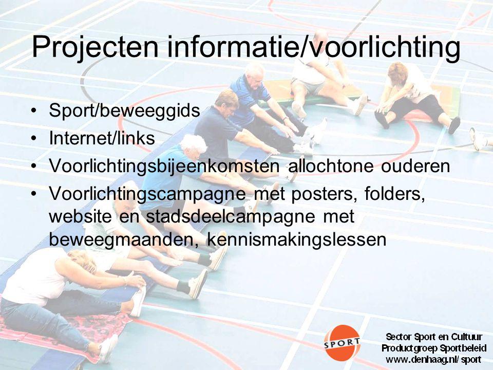 Projecten informatie/voorlichting