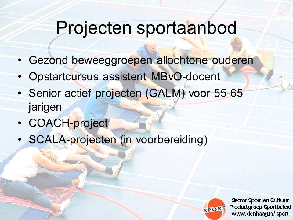 Projecten sportaanbod
