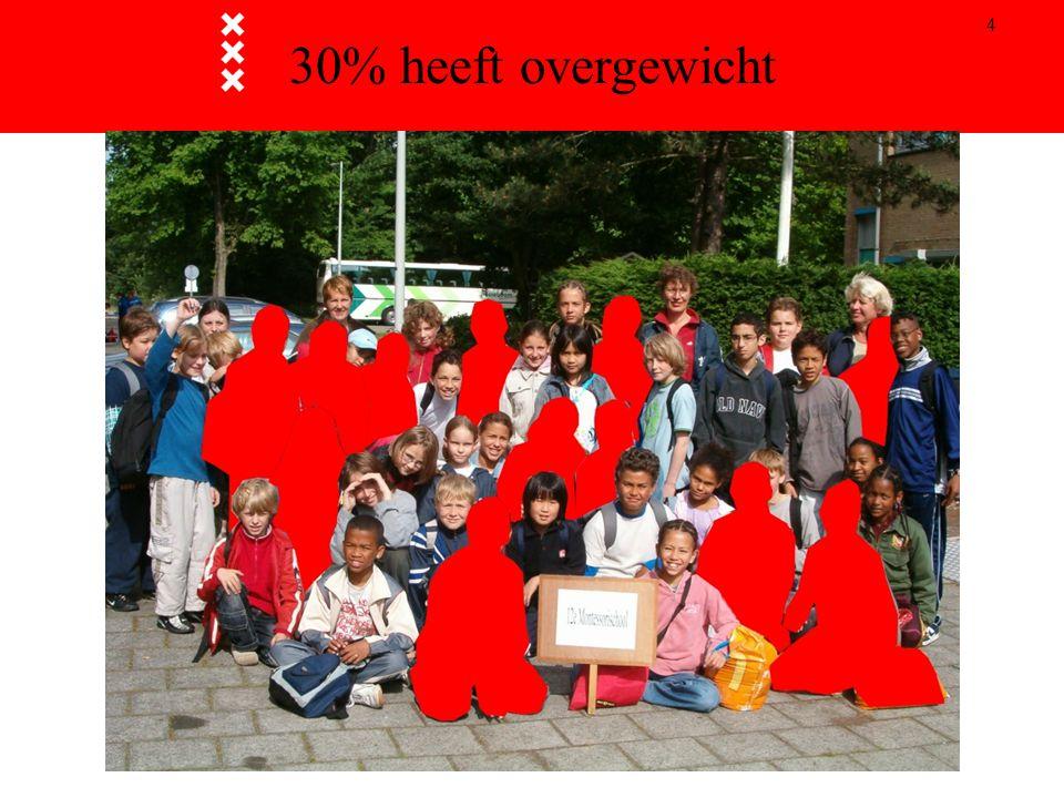 30% heeft overgewicht 16 juni 2006