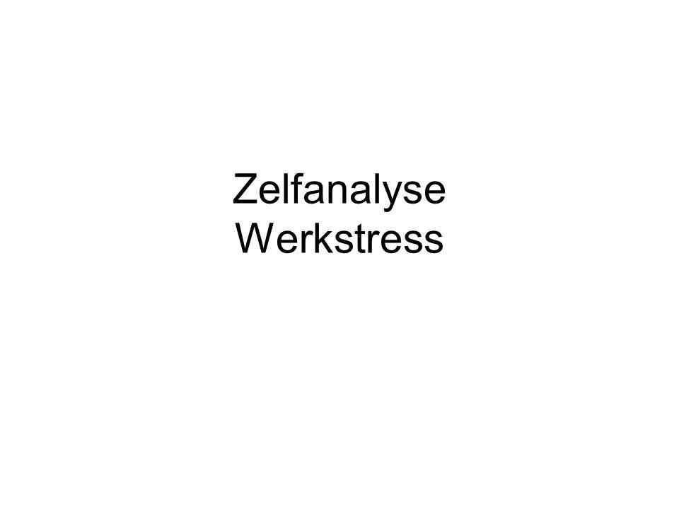 Zelfanalyse Werkstress
