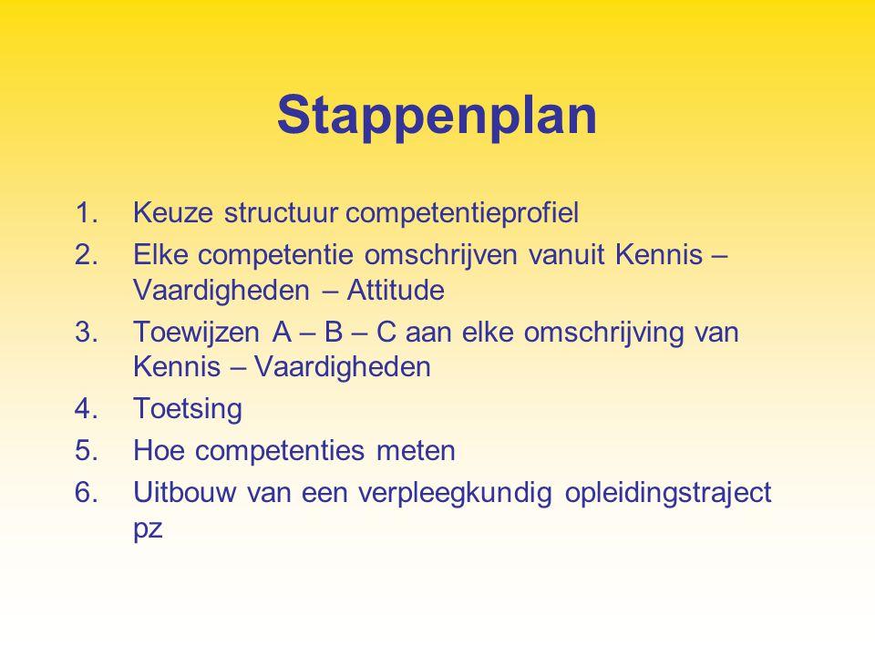 Stappenplan Keuze structuur competentieprofiel