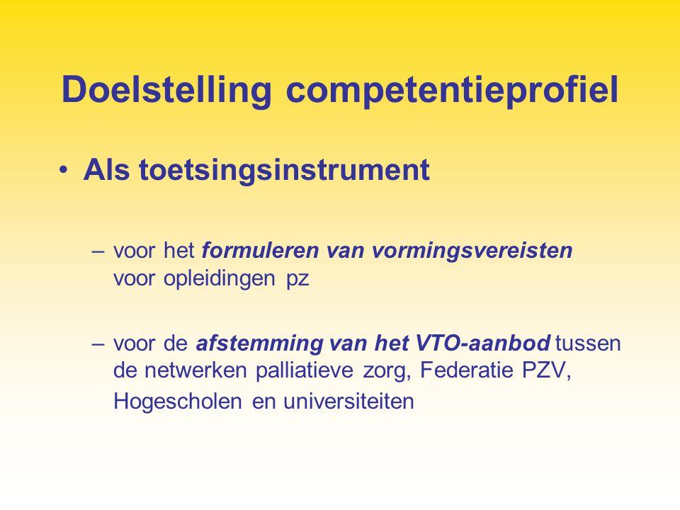 Doelstelling competentieprofiel