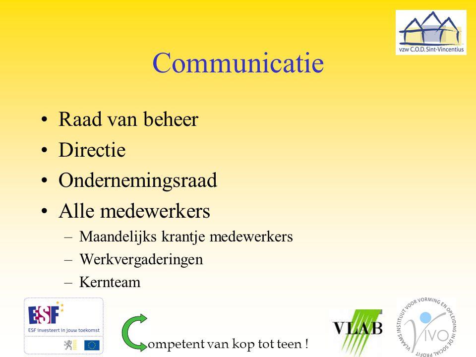 Communicatie Raad van beheer Directie Ondernemingsraad