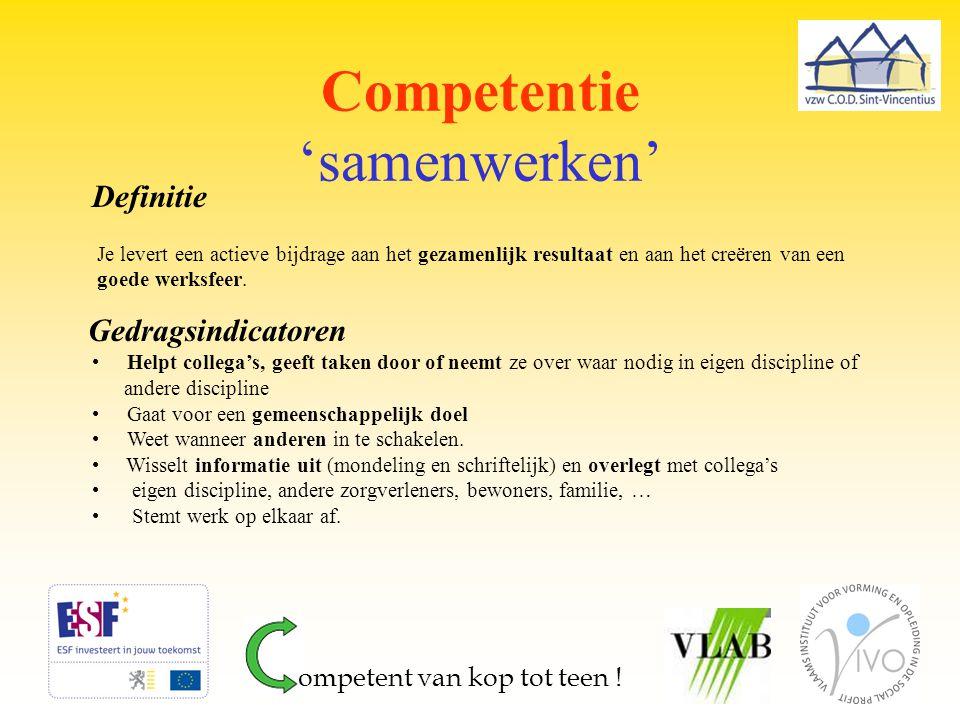 Competentie 'samenwerken'
