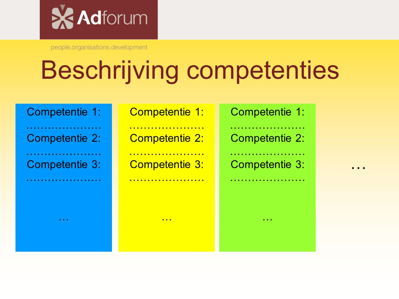 Beschrijving competenties