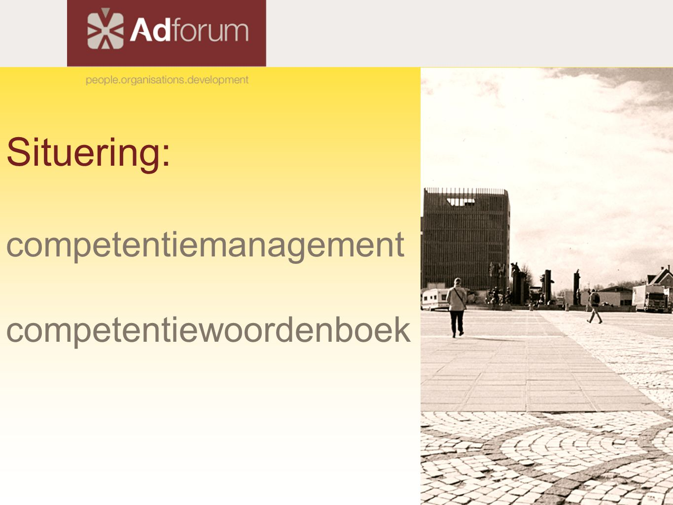 Situering: competentiemanagement competentiewoordenboek