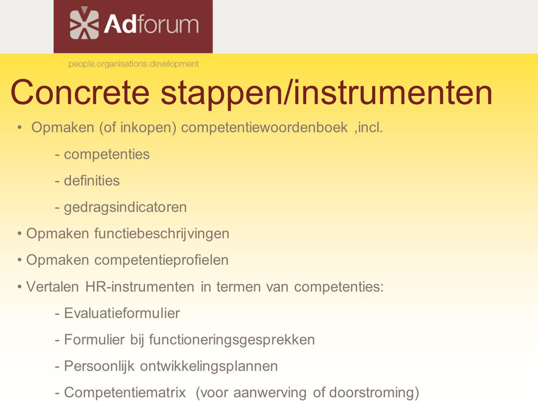 Concrete stappen/instrumenten