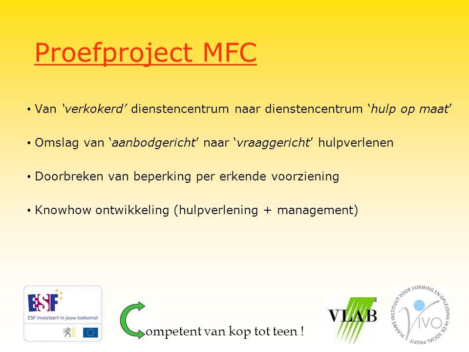 Proefproject MFC ompetent van kop tot teen !