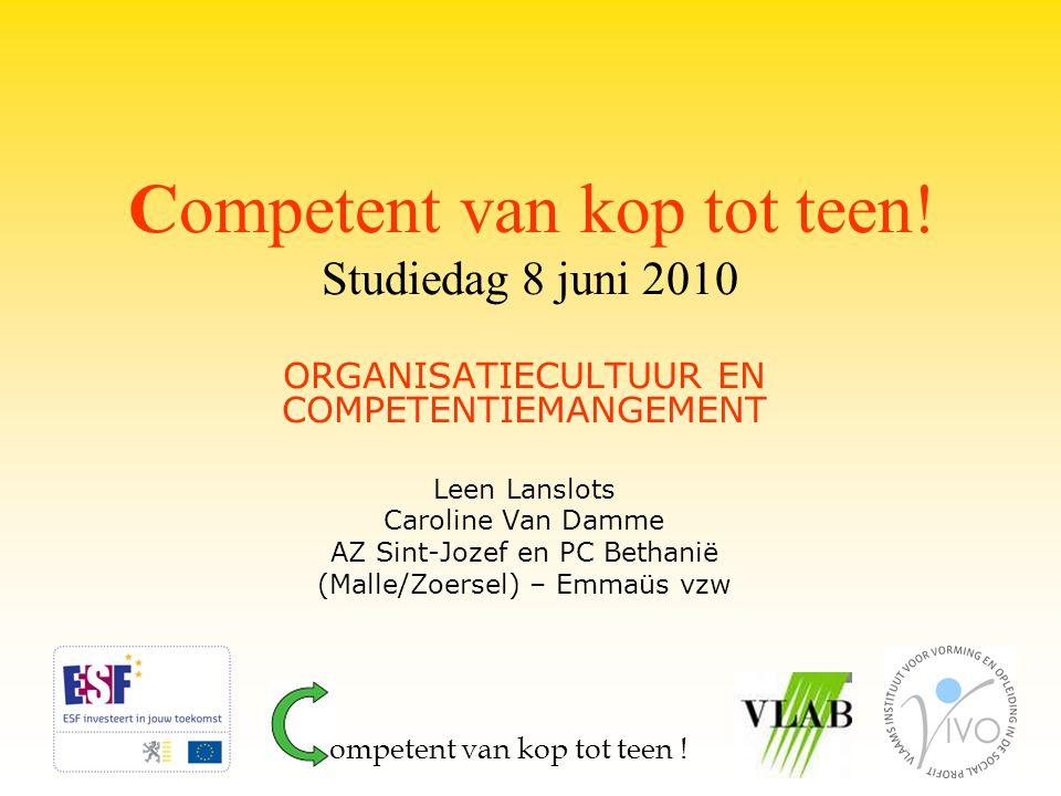 Competent van kop tot teen! Studiedag 8 juni 2010