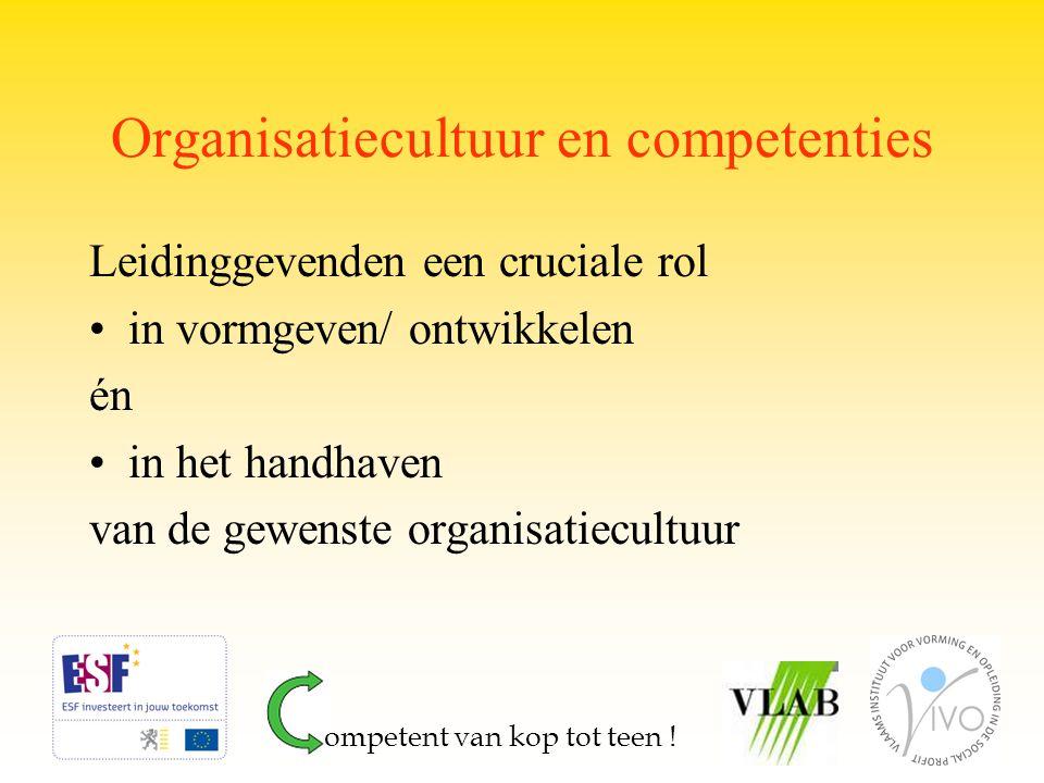 Organisatiecultuur en competenties
