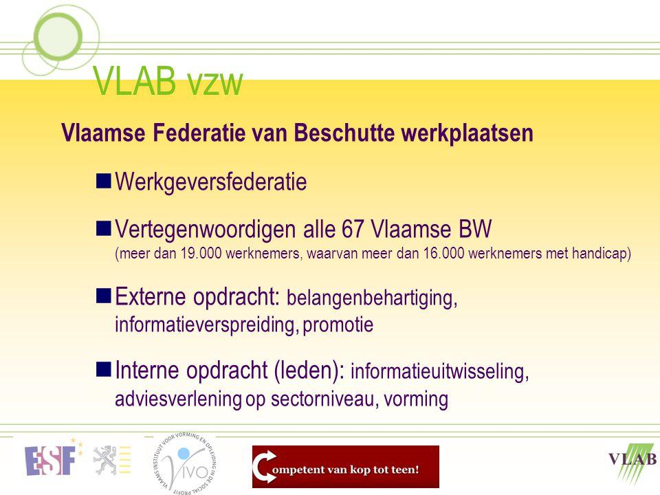 VLAB vzw Vlaamse Federatie van Beschutte werkplaatsen