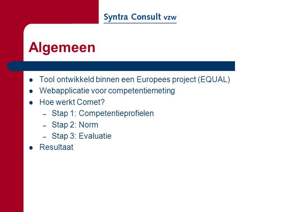 Algemeen Tool ontwikkeld binnen een Europees project (EQUAL)