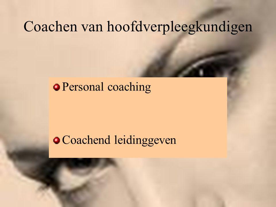 Coachen van hoofdverpleegkundigen