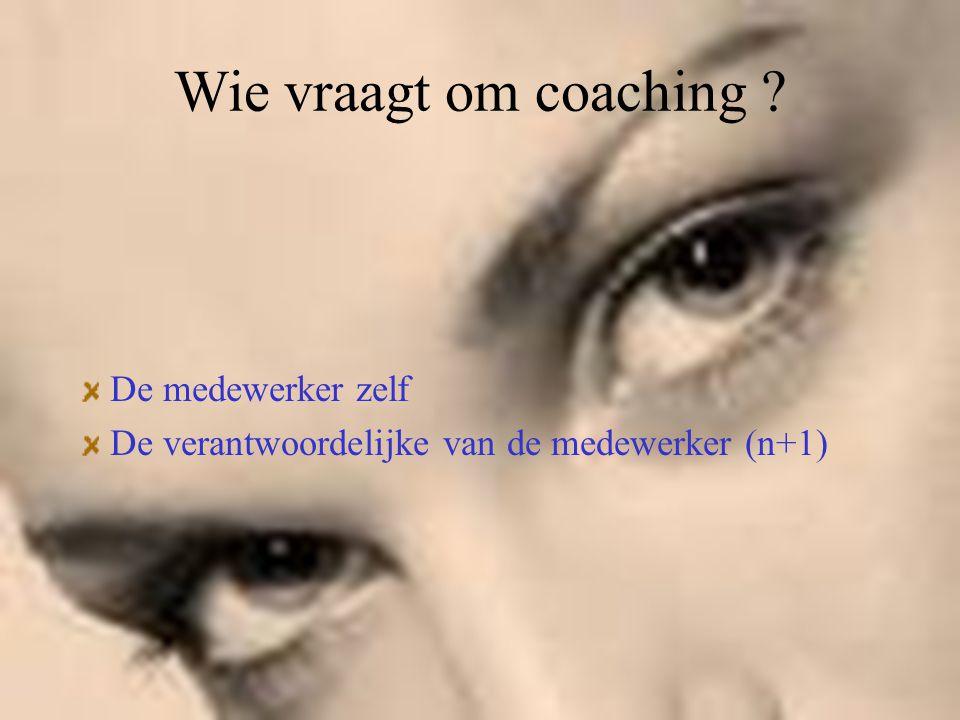 Wie vraagt om coaching De medewerker zelf