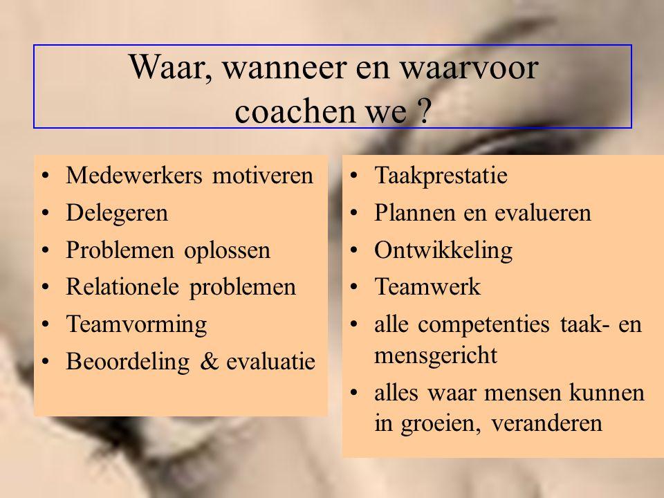 Waar, wanneer en waarvoor coachen we