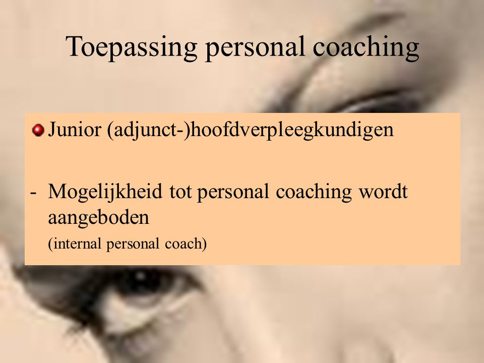 Toepassing personal coaching