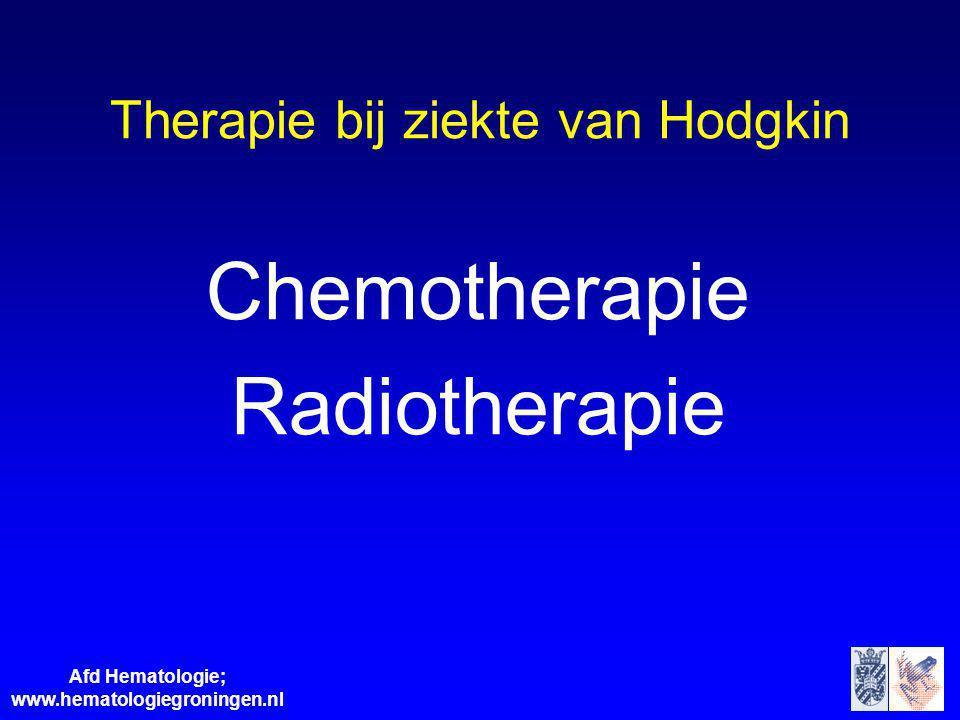 Therapie bij ziekte van Hodgkin