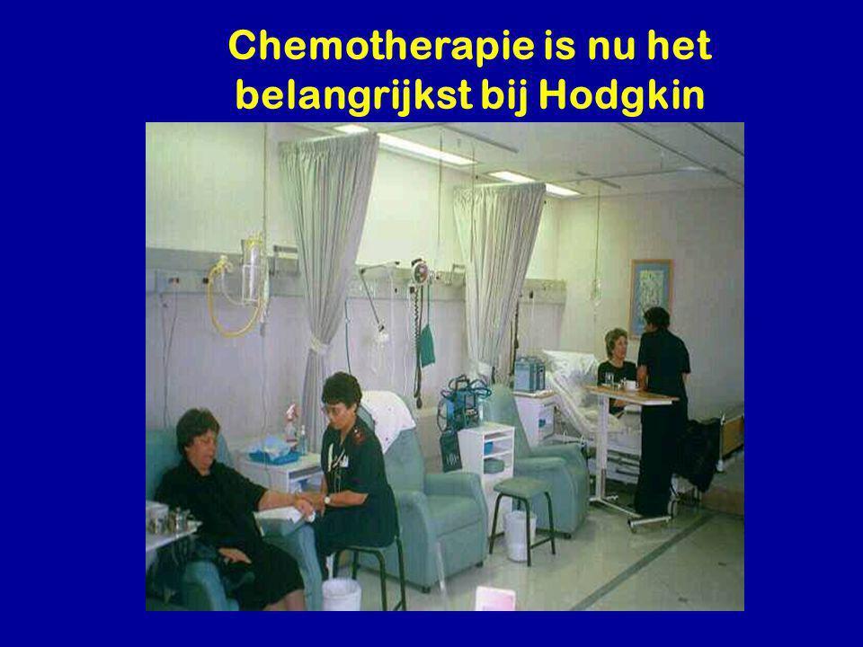 Chemotherapie is nu het belangrijkst bij Hodgkin