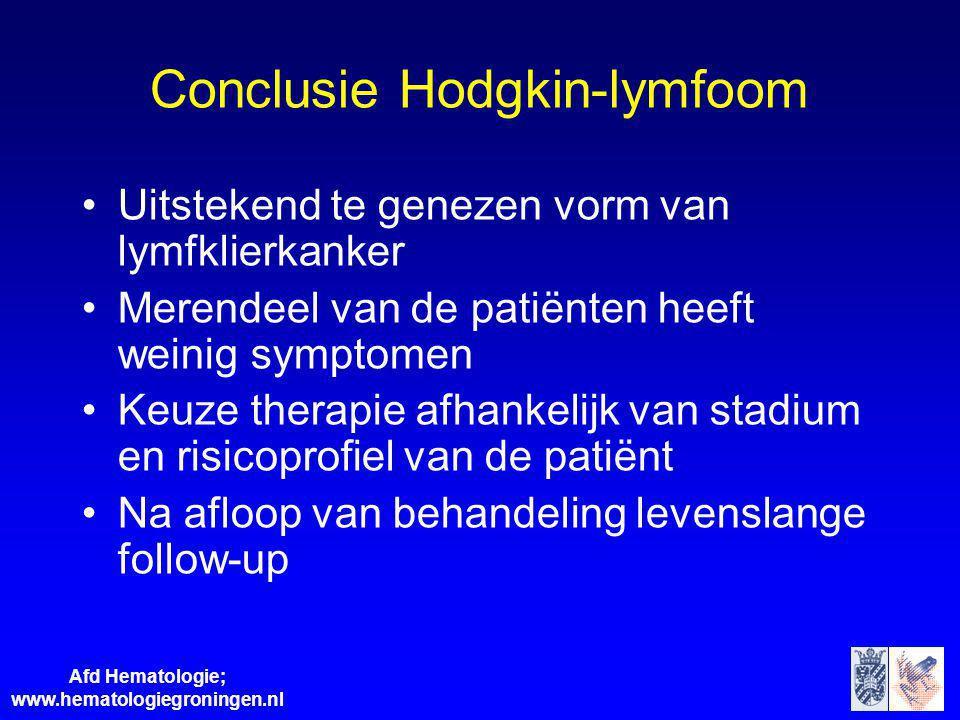 Conclusie Hodgkin-lymfoom