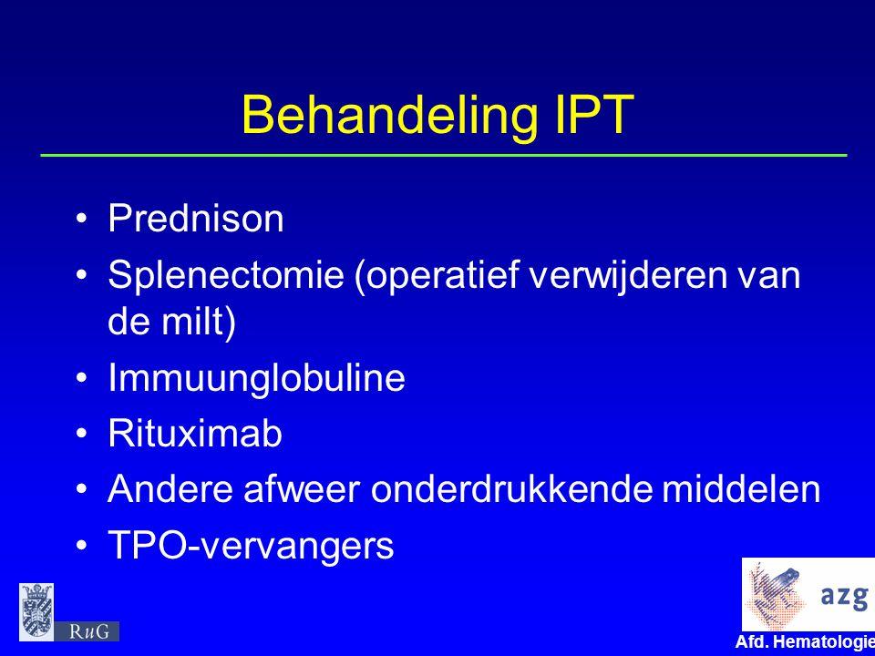 Behandeling IPT Prednison
