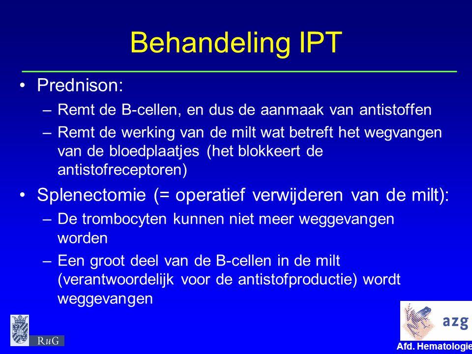 Behandeling IPT Prednison: