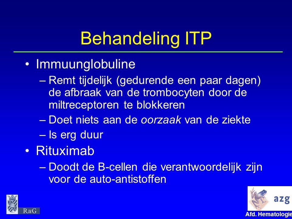 Behandeling ITP Immuunglobuline Rituximab