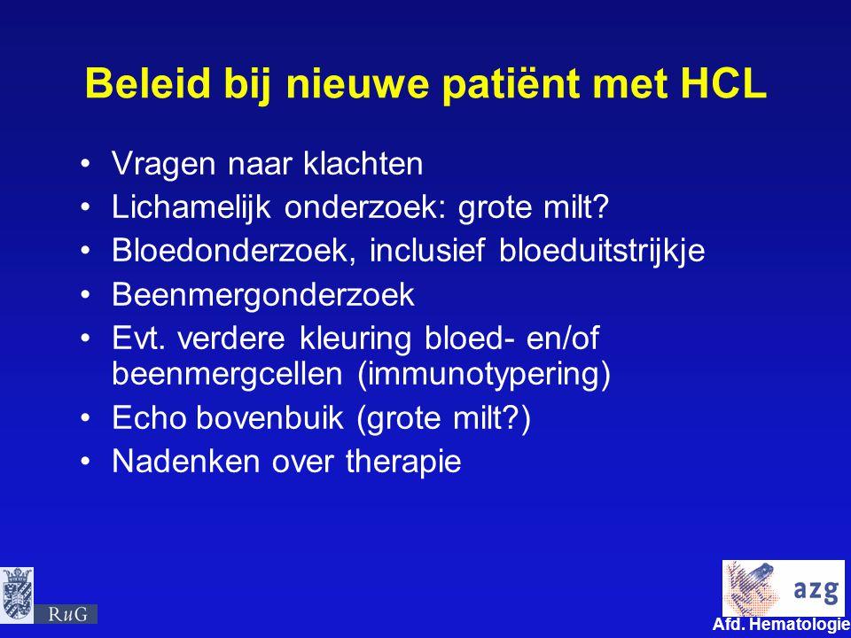 Beleid bij nieuwe patiënt met HCL