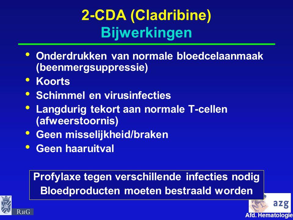 2-CDA (Cladribine) Bijwerkingen